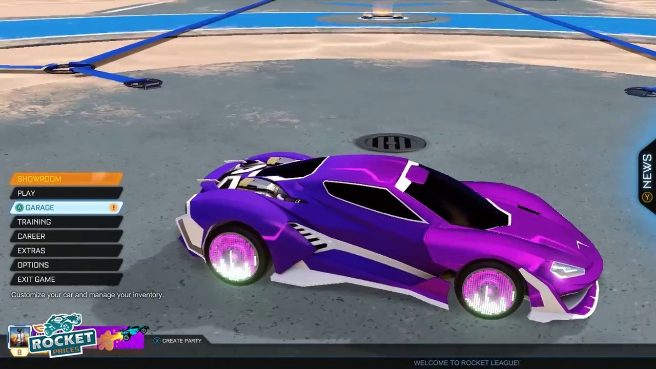 Top 5 Rocket League Cyclone Designs 3 Painted Reactor Zomba Equalizer Apex Exotic Wheels Youtube