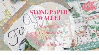 Cartera de Stone Paper - La Tienda de las Manualidades