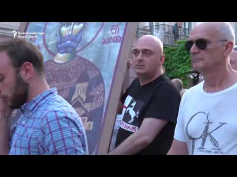 Anti-Immigration Protest Held In Tbilisi