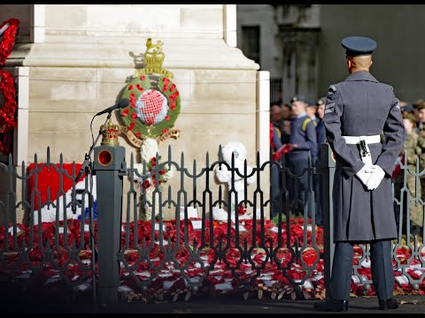 Live: Royal Family join Remembrance Sunday commemorations at Cenotaph   ITV News
