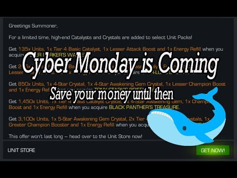 Cyber Monday is coming, save your money until then - Marvel Contest of Champions