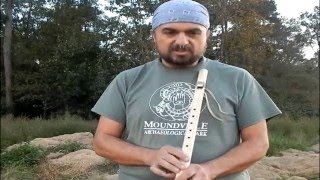 How to play the 5 hole Native American Flute as a modern 6 hole flute