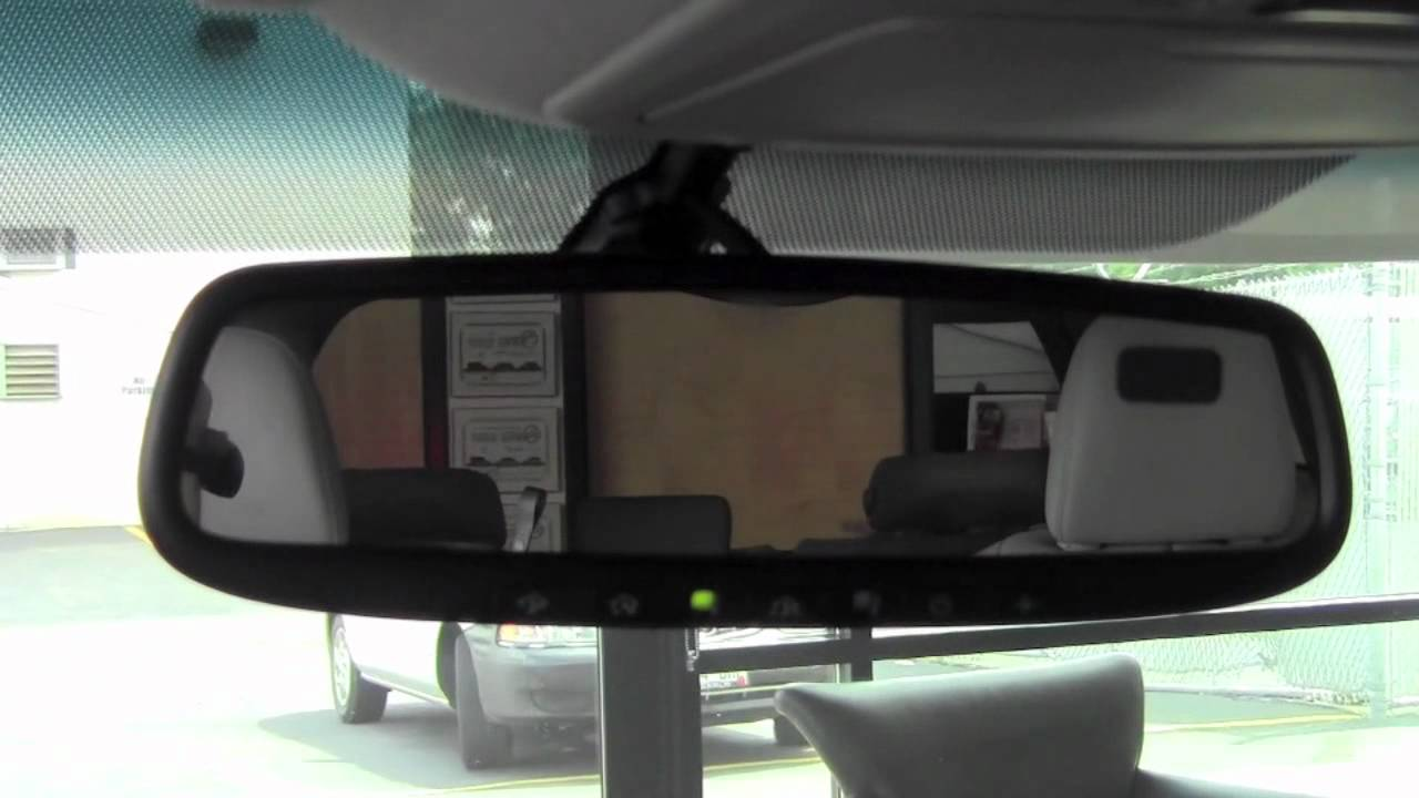 2011 Toyota Sienna Auto Dimming Rear View Mirror How To By