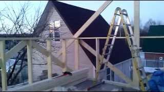 строительство мансарды своими руками(двухскатная крыша с мансардой., 2015-04-04T16:46:34.000Z)