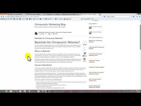 Chiropractic Website Backlinks - A Discussion