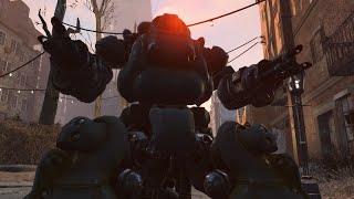 Fallout 4 - SUPER LUCKY FIND Legendary Annihilator Sentry Bot Freezing Gatling Laser LOCATION