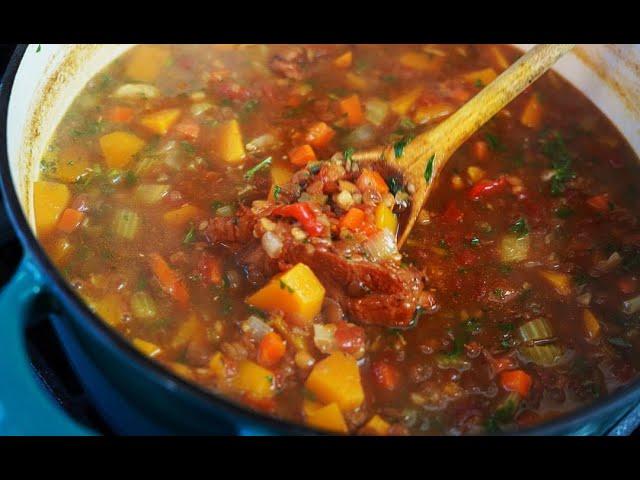 Hearty Lentil Soup (warms the soul) | CaribbeanPot.com