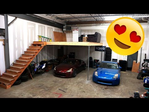 MY GARAGE LOFT IS DONE!!!