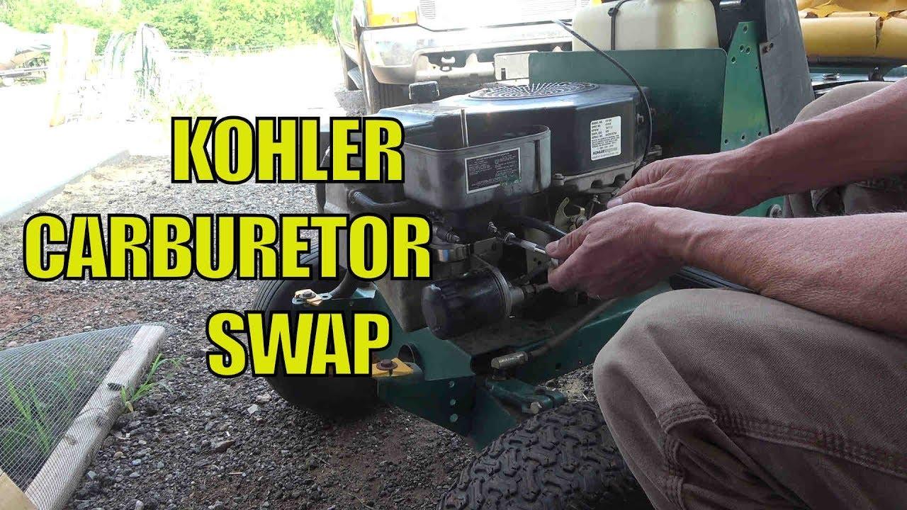Replacing Carburetor On A Kohler 15 Hp Engine Model Cv15s Youtube