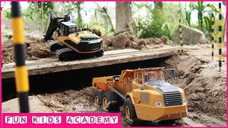 Excavator for children | Trucks for children | Dump Truck for children | Songs for kids