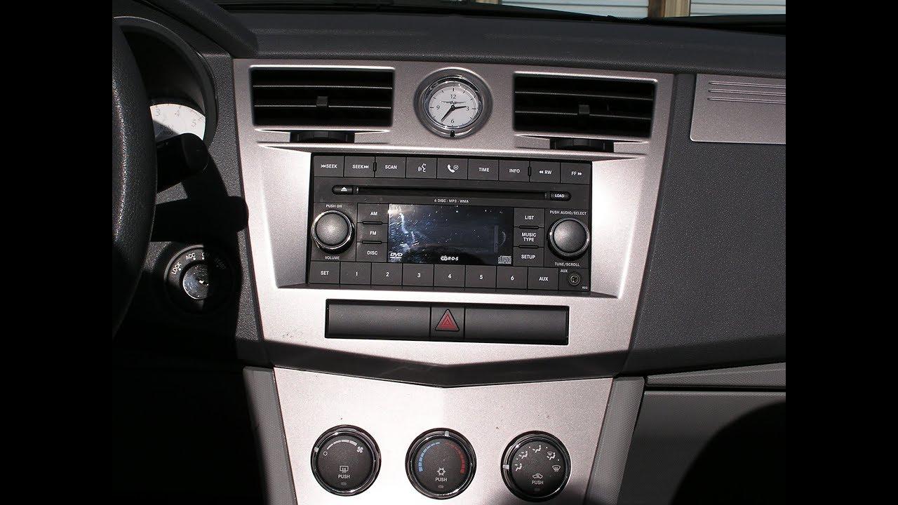 Chrysler Sebring Car Stereo Removal