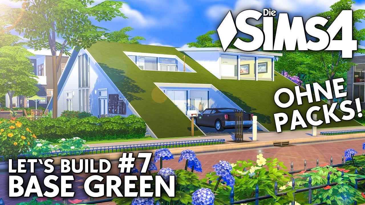 Die Sims 4 Haus Bauen Ohne Packs Base Green 7 Schlafzimmer
