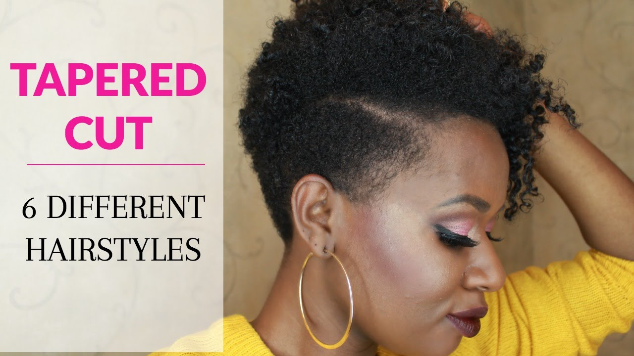 Styling Tapered Natural Hair How To Style A Tapered Cut On Natural Hair Six Hairstyles  Youtube