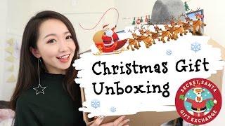 【Vicky】收到一个神秘礼物...????Secret Santa???? |7位北美YouTuber 匿名礼物互换大行动