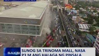 Saksi: Sunog sa Trinoma mall, nasa P3-M ang halaga ng pinsala