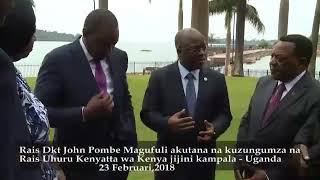Walichozungumza Rais Magufuli na Kenyatta nchini Uganda