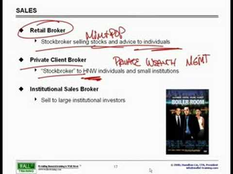 WST: Overview of Financial Mkts - Sales & Trading Explained