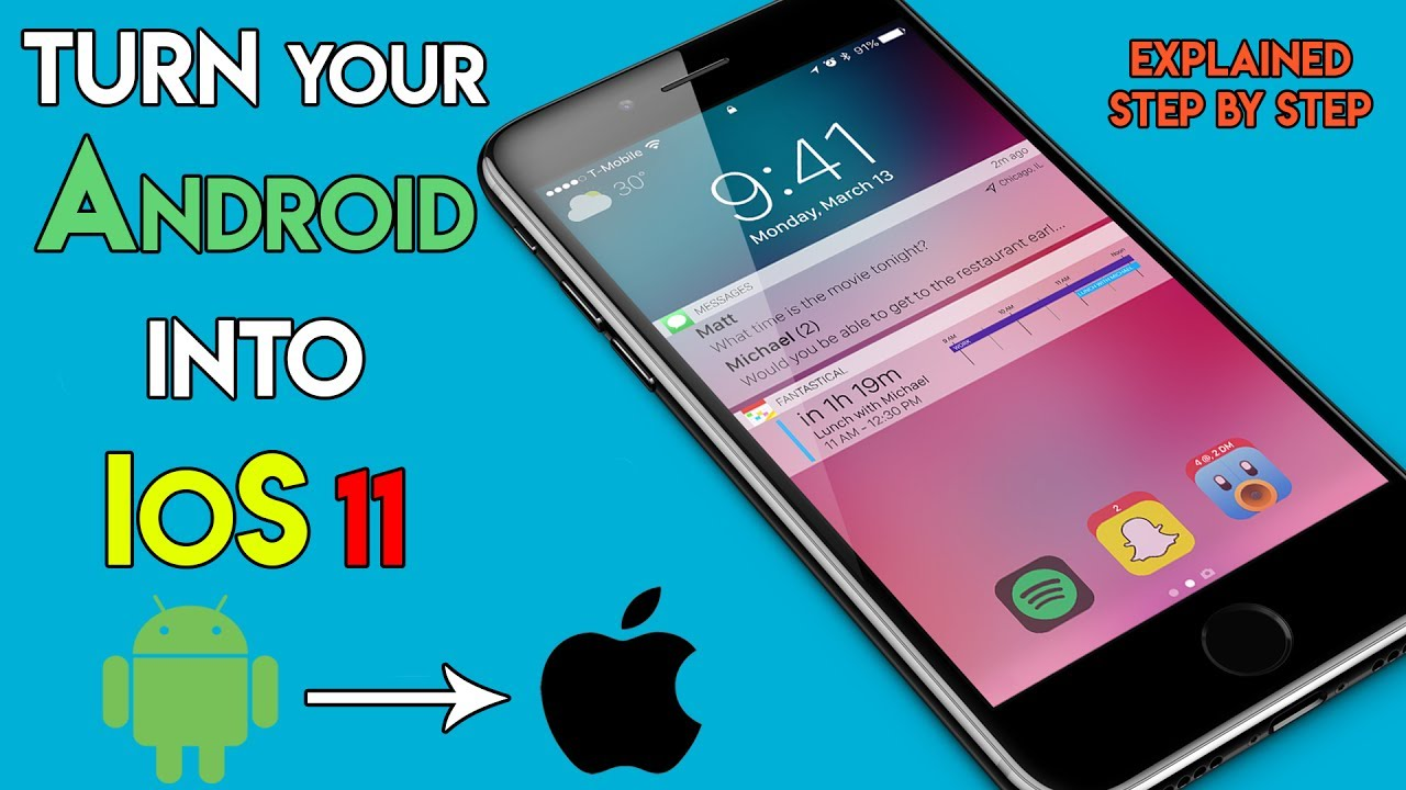 install android on iphone how to install ios 11 on android make your android phone 14346