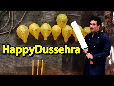 Sachin Tendulkar Wishes #HappyDussehra In Style | Sports Tak