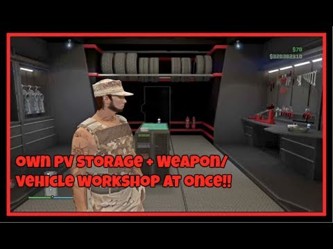 Own Personal Vehicle Storage & Weapon/Vehicle Workshop in MOC Glitch [GTA V  - XB1, PS4, PC]