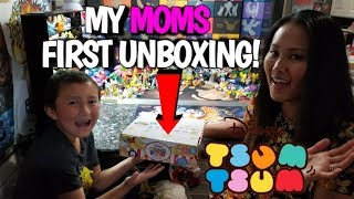 ETHANS MOM OPENS WITH US FOR THE FIRST TIME! Surprise Box of Tsum Tsums Blind Bags! Mothers Day!