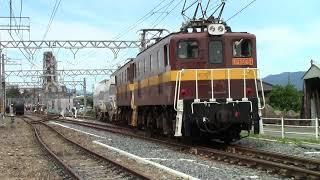 三岐鉄道三岐線502列車(東藤原~富田)ED5082+ED5081+ホキ1000