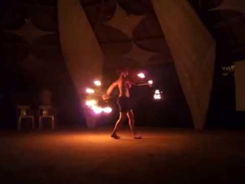 Leena Vie Presents A 'fire Fans' Dance