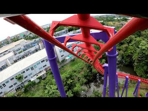 Vortex On-Ride รถไฟเหาะวอเท็กซ์ 2020   Siam Amazing Park สยามอะเมซิ่งพาร์ค สวนสยามทะเลกรุงเทพ