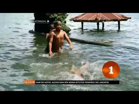 Danau Batur Bali Meluap