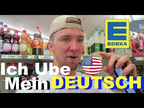 AMERICAN tries to speak GERMAN at EDEKA!