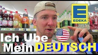 AMERICAN tries to speak GERMAN at EDEKA!