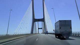 The longest bridge in Europe: Vasco da Gama - Lisbon, Portugal
