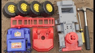 Assembling the Fire Chief Car Toys For Kids with Learn Colors For Children by bony toys