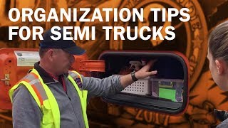 Gambar cover Organization tips for semi trucks, with Schneider driver David Buck