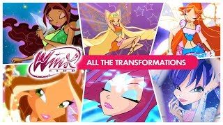 Winx Club - All the Transformations! (European Portuguese)