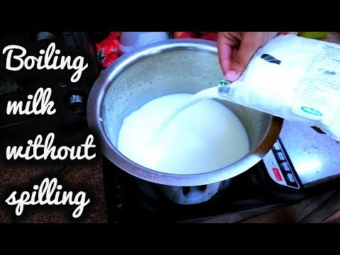 Best way to boil milk without spilling