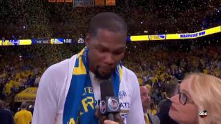 Kevin Durant & Steph Curry Postgame Interview | Warriors vs Cavs Finals Game 2 | June 4, 2017