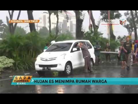 Surabaya Diterpa Hujan Es