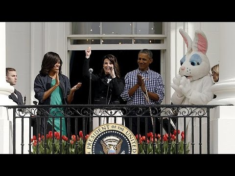 USA: President Obama and first lady host annual Easter egg roll