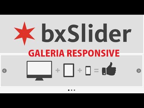Galeria bxSlider responsive HTML JS