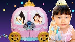 라임이의 신데렐라미미 호박마차 화장대 장난감 놀이 Cinderella MiMi Pumpkin Make up LimeTube & Toy 라임튜브