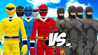 Power Rangers vs RoboCop army - Epic Battle