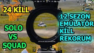 SOLO VS SQUAD *  12  SEZON KİLL REKORUM * 24 KİLLS *  MACHİNE VS TEAMİNG PLAYERS