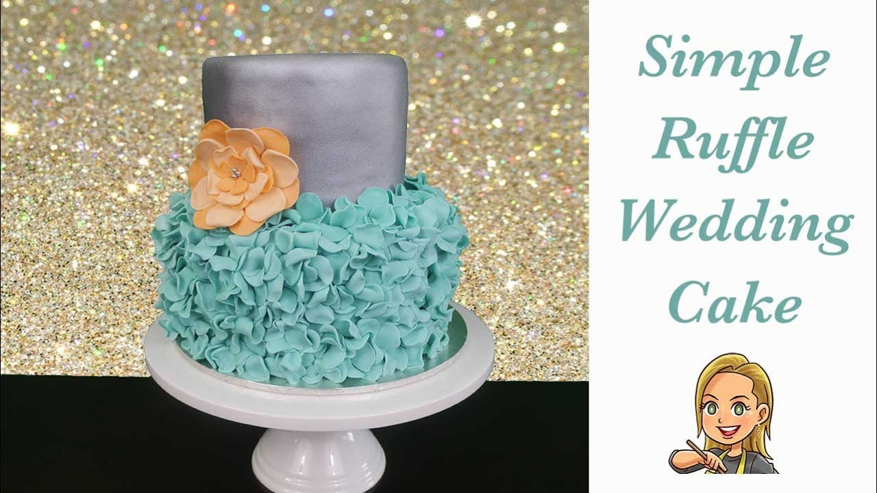 how to make a fondant ruffle wedding cake simple ruffle wedding cake how to 15813
