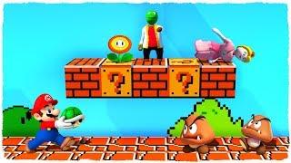 Super Mario Bros En El Mundo De Plastilina De Minecraft