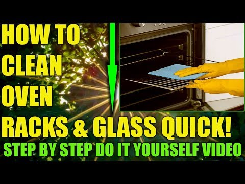 How To Clean Oven Racks, Glass With Lemon & Baking Soda Homemade Oven Cleanser Spray & Paste Recipe