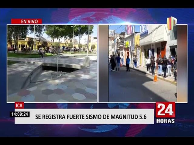 Sismo de magnitud 5.6 en Ica