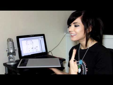 Wacom Bamboo Create Tablet review by Melonie Mac - YouTube