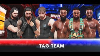 WWE-2K19-The Shields vs The New Day -6 Men Tag Team Match- Survivor Series 2018