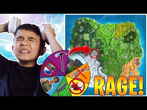 Hilarious Rigged Spin Wheel Decides How My Little Brother Play Fortnite! He RAGED!